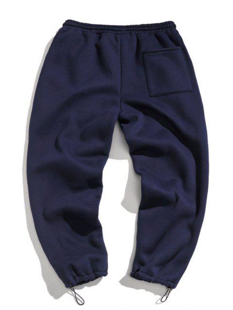 Pantalones de Deportes de Apliques de Letras con Cordón - Cadetblue XL Mobile
