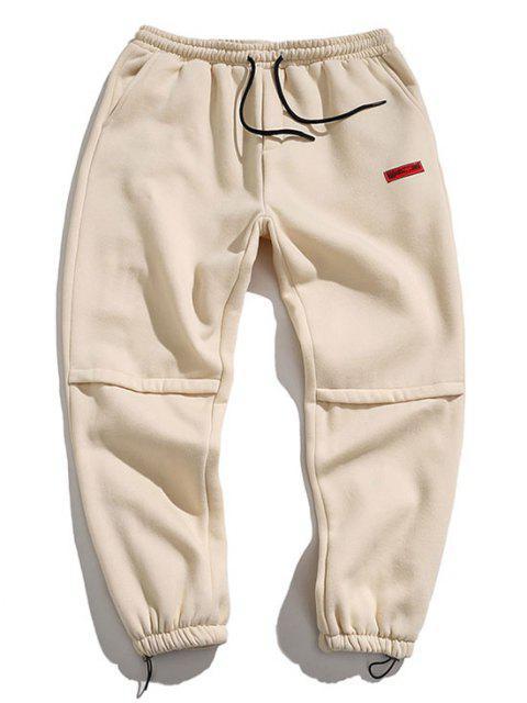 Pantalon de JoggerAppliqueLettre Brodée - Beige 2XL Mobile