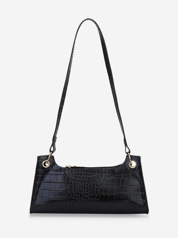 Rectangle Brief Textured Shoulder Bag