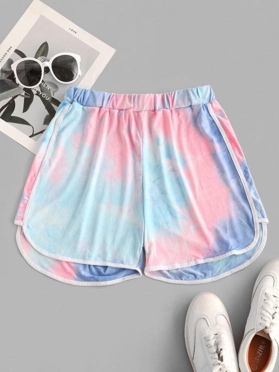 Neon Tie Dye Dolphin Shorts - متعددة-A L
