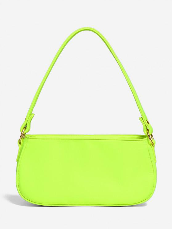 affordable Brief Neon Color Shoulder Bag - GREEN YELLOW
