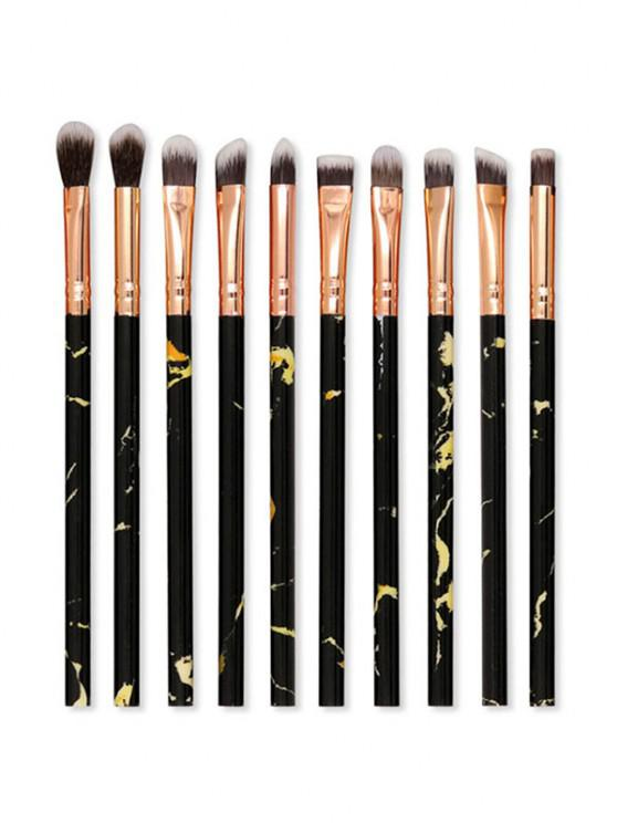 women's 10Pcs Eye Shadow Makeup Brush Set - BLACK