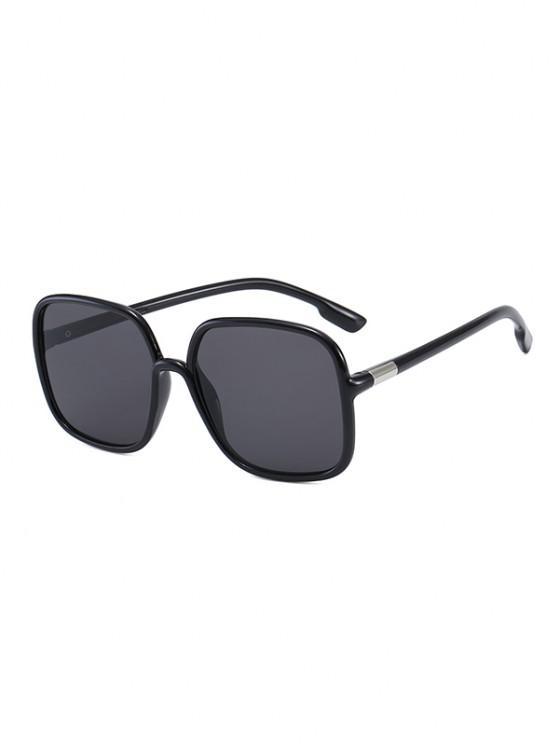 Travel Anti UV Square Sunglasses - أسود