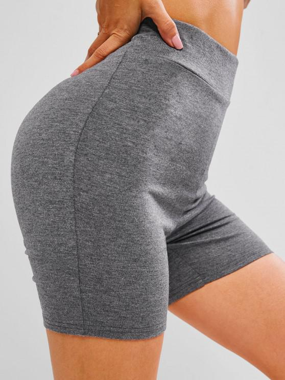 outfit ZAFUL Scrunch Bum High Waisted Short Leggings - DARK GRAY M