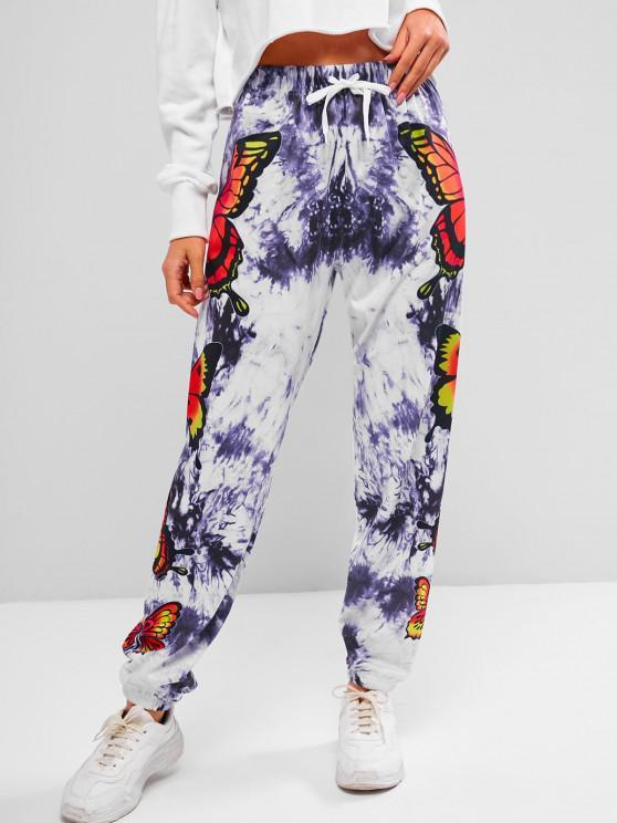 ZAFUL Pantalon de Jogging Tie Dye Papillon Imprimé - Multi S