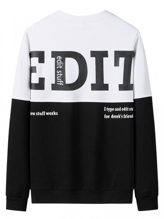 Edit Graphic Print Colorblock Panel Sweatshirt - متعدد XL