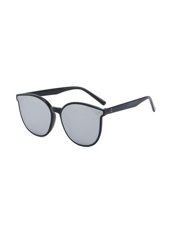 sale Anti UV Unisex Round Sunglasses - GRAPHITE BLACK