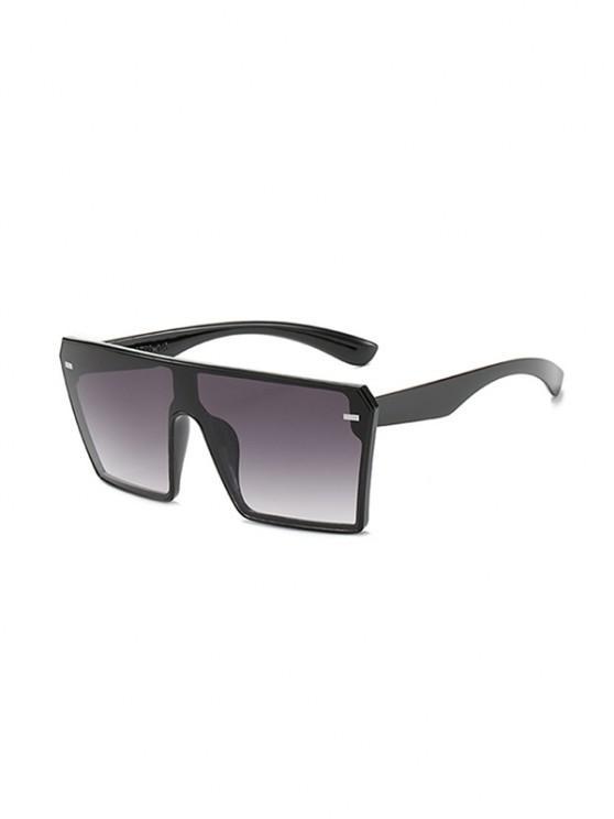 affordable Square Shield Oversized Sunglasses - LIGHT SLATE GRAY