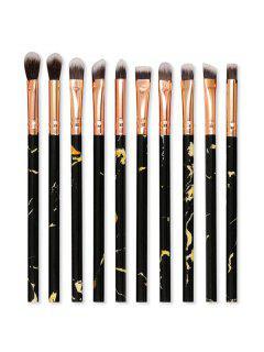 10Pcs Eye Shadow Makeup Brush Set - Black