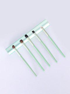 Conjunto De Escova De Maquiagem De 5pcs - Arara-azul-verde