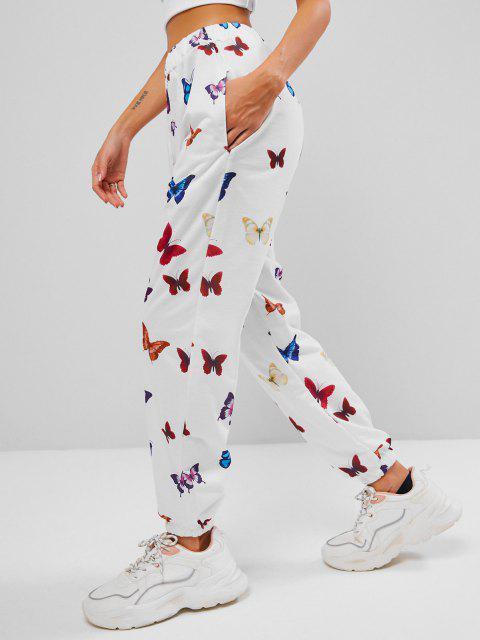 Jogger Jogginghose mit Schmetterlingsdruck - Weiß L Mobile