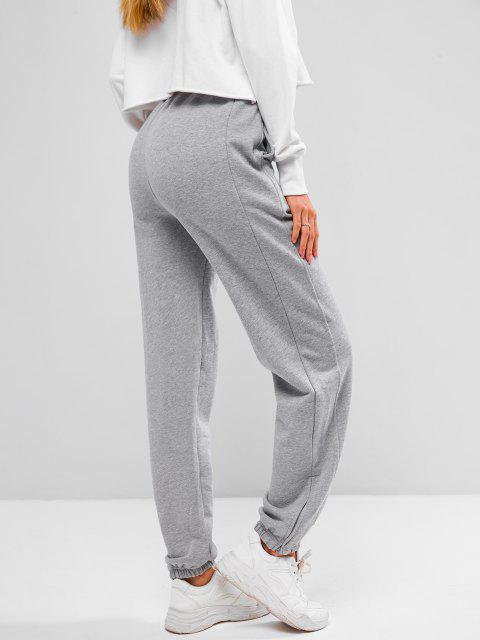 outfit French Terry Drawstring Seam Detail Jogger Sweatpants - GRAY GOOSE S Mobile