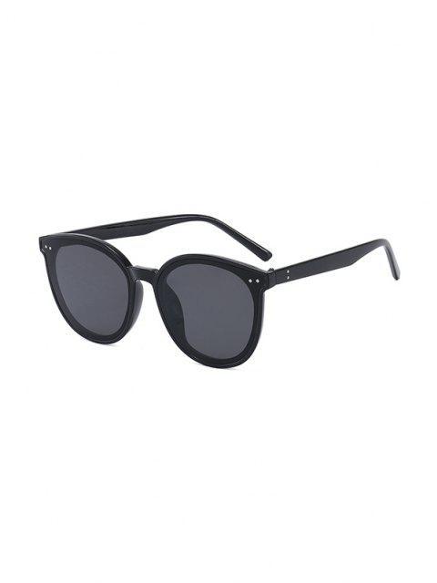 women's Anti UV Unisex Round Sunglasses - BLACK  Mobile