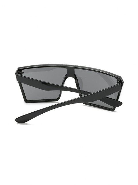 ladies Square Shield Oversized Sunglasses - BLACK  Mobile