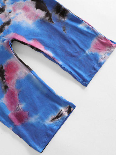 hot Tie Dye Cami Cycling Unitard - OCEAN BLUE M Mobile