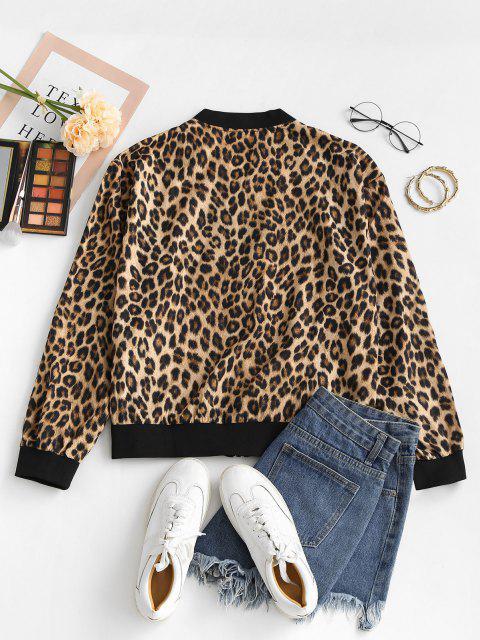 Chaqueta Zipper a Estampado Animal Leopardo - Leopardo XS Mobile