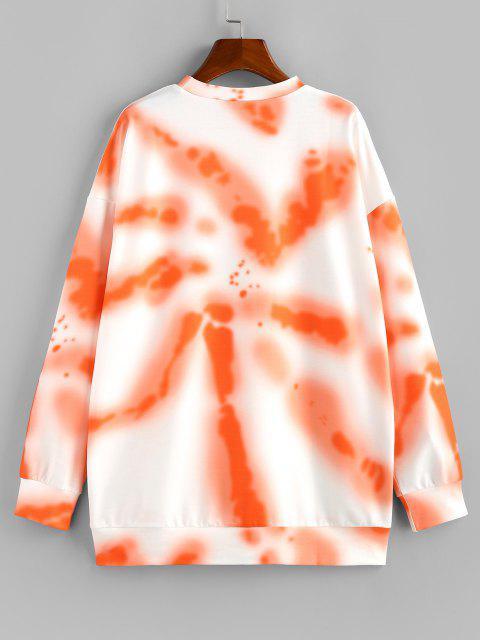 ZAFUL Sudadera con Gráfico de Tie Dye - Naranja S Mobile