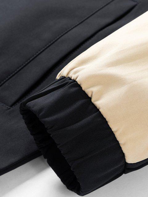 Veste à Capuche en Blocs de Couleurs à Bouton-Pression - Noir 3XL Mobile