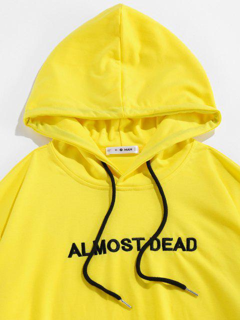 ZAFUL Rose Fast Tot Stickerei Hoodie - Gelb S Mobile