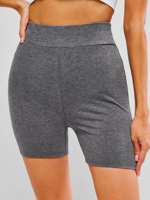 outfit ZAFUL Scrunch Bum High Waisted Short Leggings - DARK GRAY M Mobile