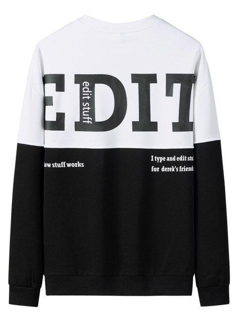 womens Edit Graphic Print Colorblock Panel Sweatshirt - MULTI XL Mobile