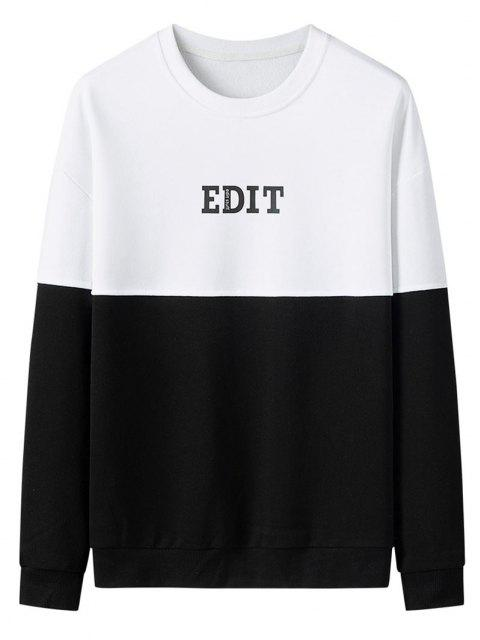 outfit Edit Graphic Print Colorblock Panel Sweatshirt - MULTI L Mobile