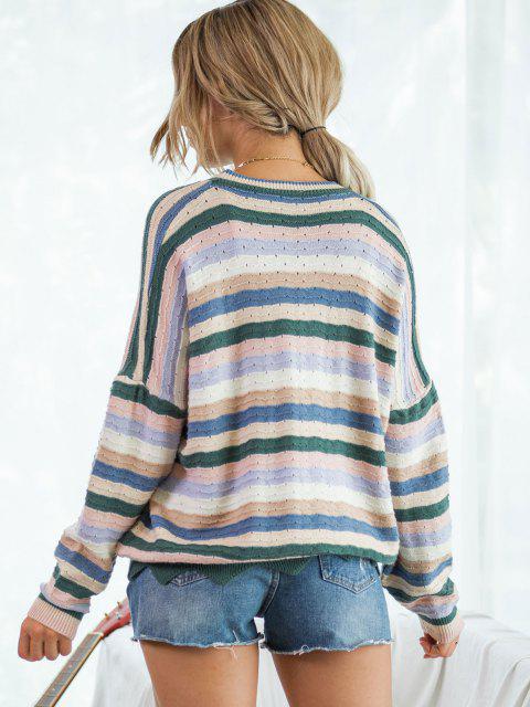 Maglione a Righe Colorate - Multi Colori S Mobile