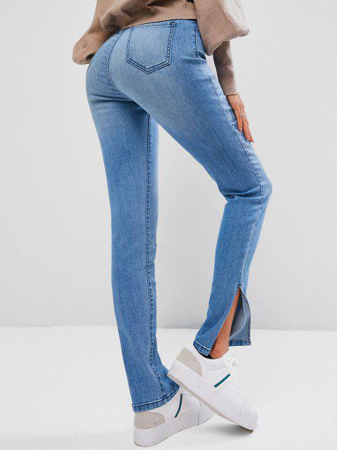 ZAFUL Jeans Delgados con Cremallera - Azul claro S Mobile
