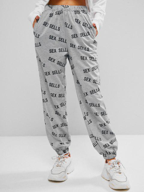 best Sex Sells Graphic Marled Joggers - GRAY S Mobile