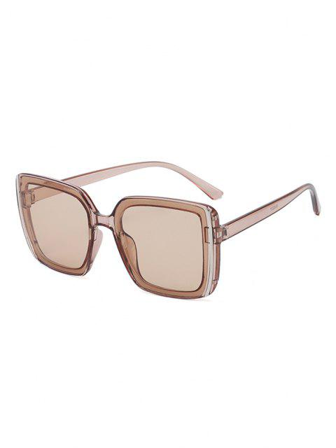 latest Stripe Design Square Oversized Sunglasses - LIGHT COFFEE  Mobile