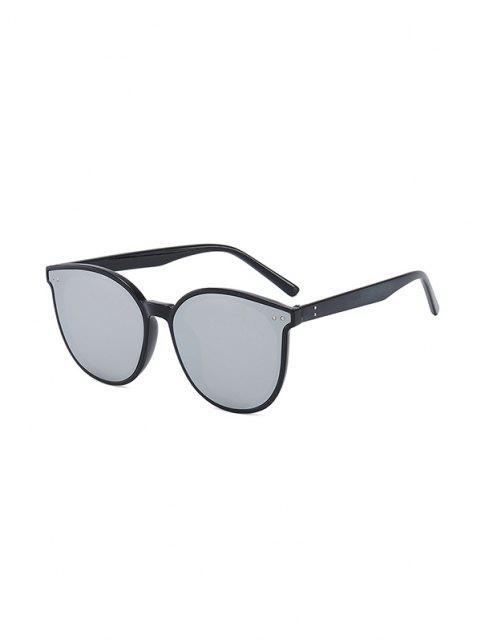 sale Anti UV Unisex Round Sunglasses - GRAPHITE BLACK  Mobile