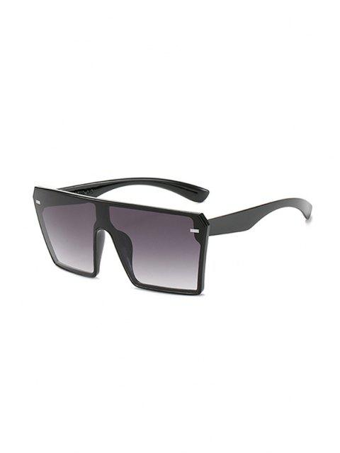 affordable Square Shield Oversized Sunglasses - LIGHT SLATE GRAY  Mobile