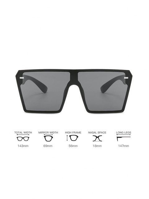womens Square Shield Oversized Sunglasses - COOL WHITE  Mobile