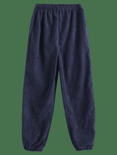 High Waisted Corduroy Pull On Pants