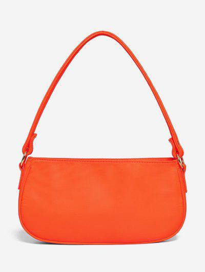 Brief Neon Color Shoulder Bag - Orange