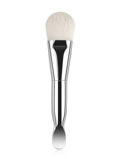 Double-ended Mask Brush With Spoon - Milk White