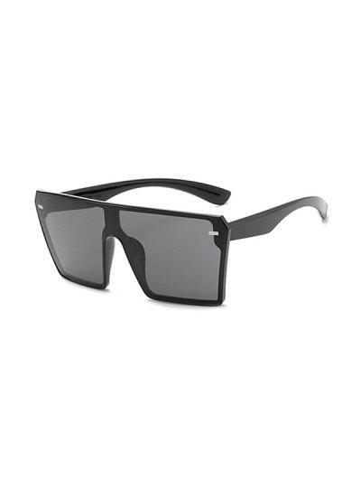 Square Shield Oversized Sunglasses - Black