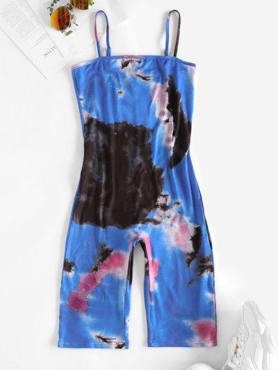 Tie Dye Cami Cycling Unitard - Ocean Blue L