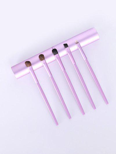 5pcs Portabil Eye Cosmetic Brush Set - Floare Mov