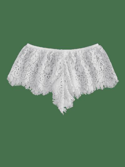 Lace Eyelash See Thru Lingerie Panties