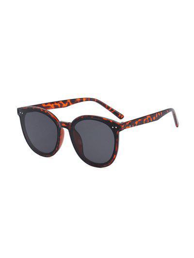 Anti UV Unisex Round Sunglasses - Leopard