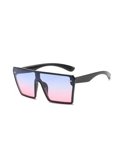 Square Shield Oversized Sunglasses - Multi-b