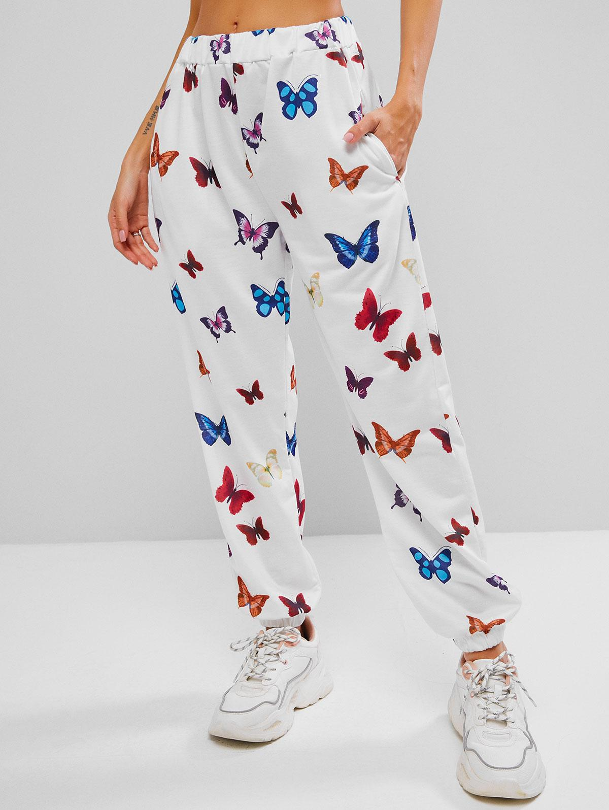 Pocket Butterfly Pull On Jogger Sweatpants