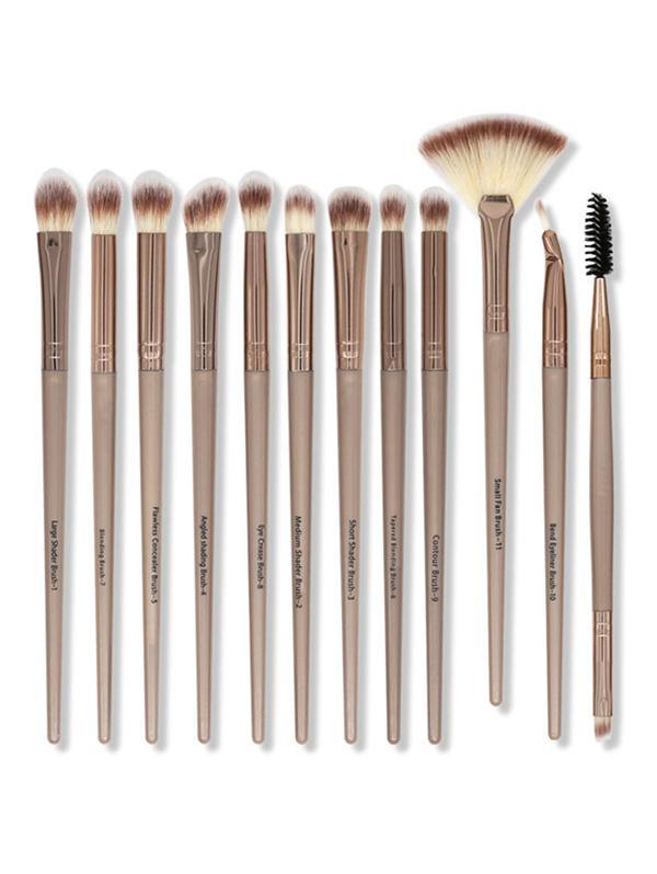 12Pcs Portable Eye Makeup Brushes Set