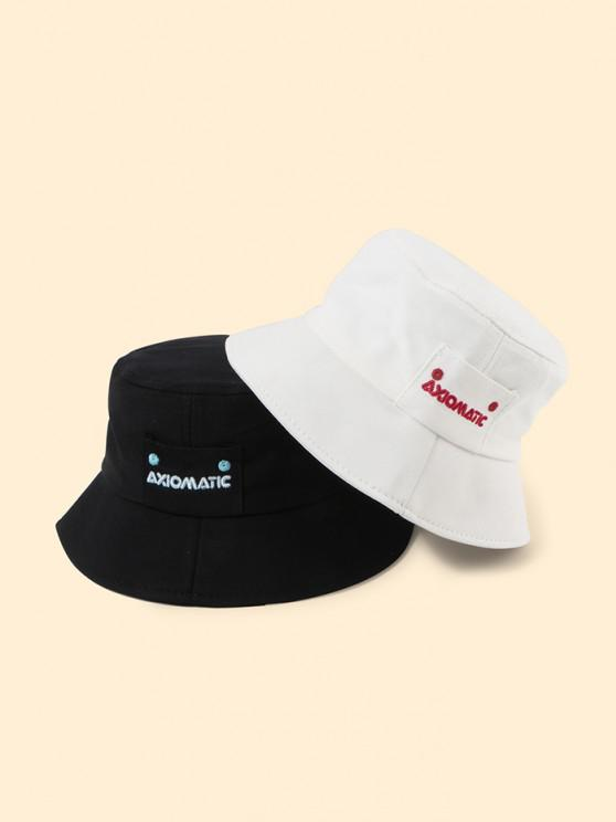 sale 2Pcs Letters Embroidered Bucket Hat Set - MULTI-A