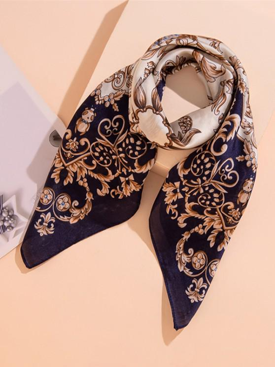 Floral Printed Square Scarf - إيريديوم
