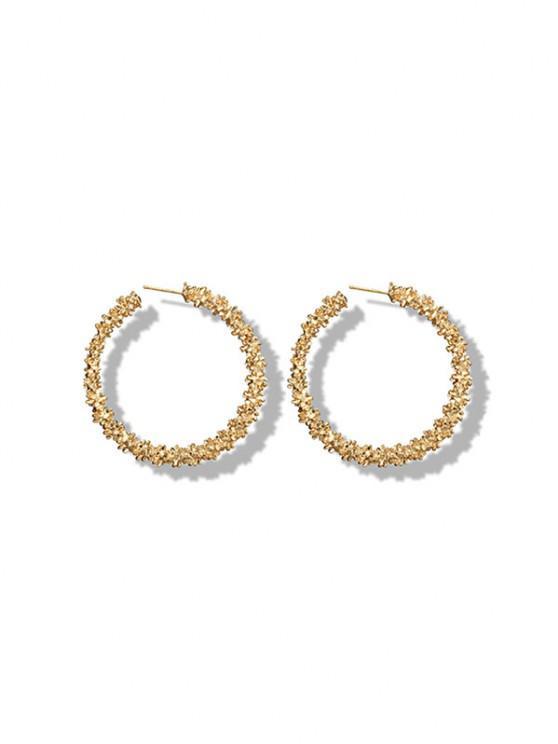 latest Textured Hoop Earrings - GOLDEN