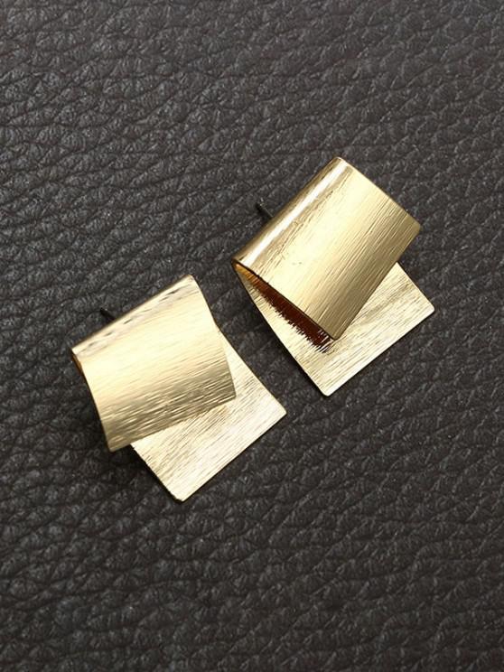 buy Overlapping Geometric Stud Earrings - GOLDEN