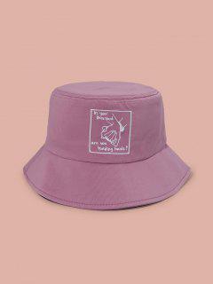 Stickerei Hand Bucket Hut - Tulpe Rosa