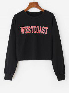 Westcoast Graphic Crop Sweatshirt - Black M